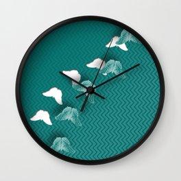 Escaping butterflies Wall Clock