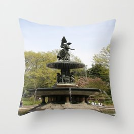 Angel Of he Waters Throw Pillow
