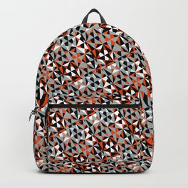 Geometric Angular Orange Mix Modern Pattern Backpack