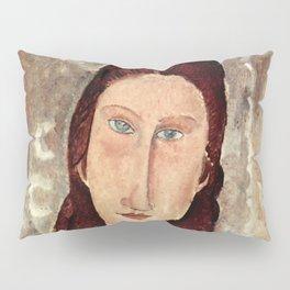 Amedeo Modigliani - Porträt der Jeanne Hébuterne Pillow Sham