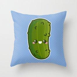 Kawaii Pickle Throw Pillow
