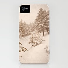 White forests. Vintage. iPhone (4, 4s) Slim Case