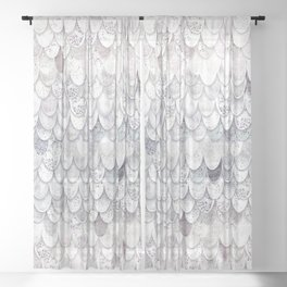 MAGIC MERMAID WHITE Sheer Curtain