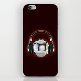 Headphone disco ball iPhone Skin
