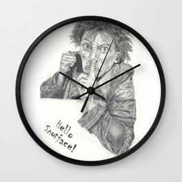 Hello Snotface Wall Clock