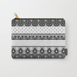 Бело черный  орнамент  . Carry-All Pouch