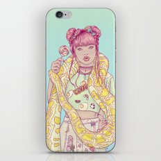 Candid Candy Lady iPhone Skin