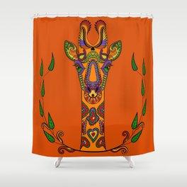 Jazzy the Giraffe #KidsArt #PopArt Shower Curtain