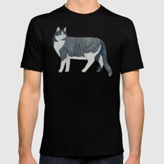 Beaming Cat Black MEDIUM Mens Fitted Tee