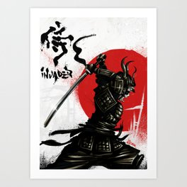 Samurai Invader Art Print