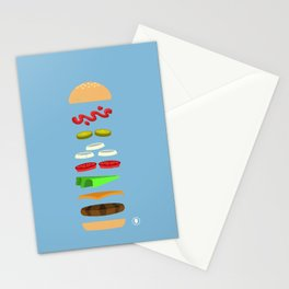 Chz Brgr Stationery Cards