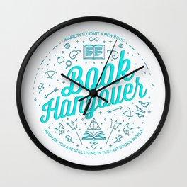 Book Hangover (Cyan) Wall Clock