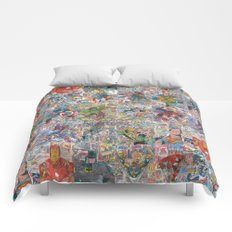 Vintage Comic Superheroes Galore (Limited Time) Comforters