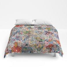 Vintage Comic Superheroes Galore (Limited Time) Comforters