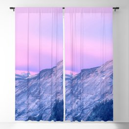 Marvellous Mountainside With Woods At Romantic Evening Red Violet Hue High Resolution Blackout Curtain