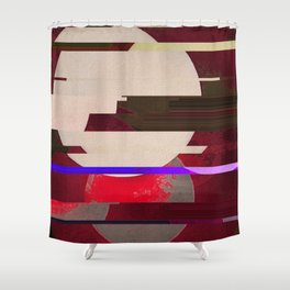 Fractures In Red Shower Curtain