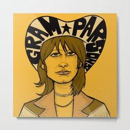 Gram Parsons Metal Print