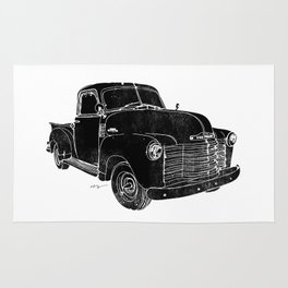 Vintage Chevy 3100 Truck Rug