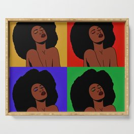 Natural Afro Pop Art Serving Tray