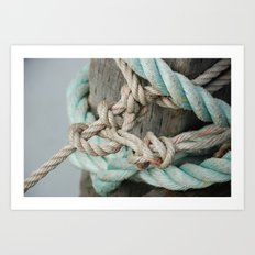 TIED TO THE MOORING #1 Art Print