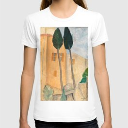 """Amedeo Modigliani """"Cypresses and Houses at Cagnes (Cyprès et maisons à Cagnes)"""" T-shirt"""