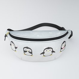 Penguins in the snow Fanny Pack
