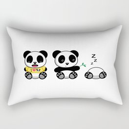 Three Little Pandas Rectangular Pillow