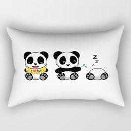 Three Little Pandas Rectangular Pillow