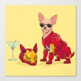 Chihuahua - Iron Man Canvas Print