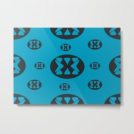 blue patterns Metal Print
