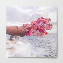 Floral Fog Horn Metal Print