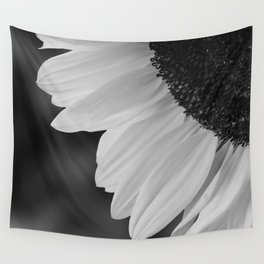 Black and White Sunflower Photography Print Wall Tapestry