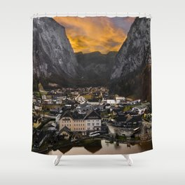 Hallstatt Village in Austria Shower Curtain
