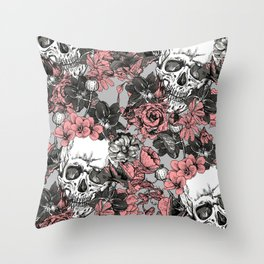 SKULLS 3 HALLOWEEN Throw Pillow
