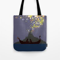 tangled Tote Bags featuring Tangled by TheWonderlander