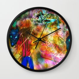 Interdimensional Exploration Wall Clock