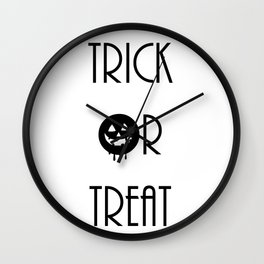 Trick Or Treat Wall Clock