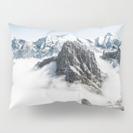 Mountain Tops Above Clouds And Snow Pillow Sham