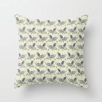 my little pony Throw Pillows featuring MY LITTLE PONY by MINIZUKA