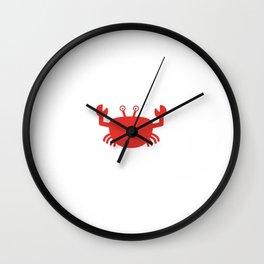 Red Crab Wall Clock