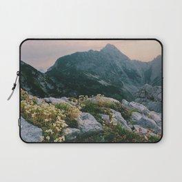 Mountain flowers at sunrise Laptop Sleeve