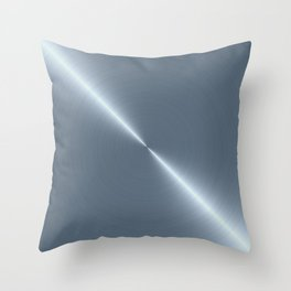 Cold Blue Steel Machined Metal Throw Pillow