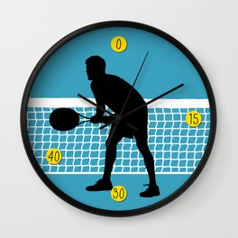 TENNIS indoor Return Net Wall Clock