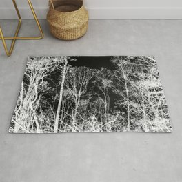 Black and white tree photography - Watercolor series #9 Rug