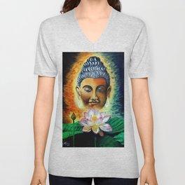 Lord Buddha Unisex V-Neck