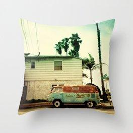 Rusty Van Throw Pillow