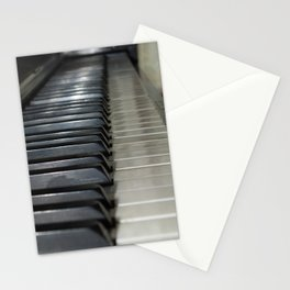 Piano Keys for Creating Abstract Worlds Stationery Cards
