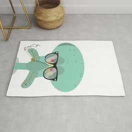 Hipster Squidward Rug