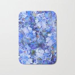 Wild Blue Rose Garden Bath Mat