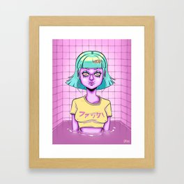 Bath Girl Framed Art Print